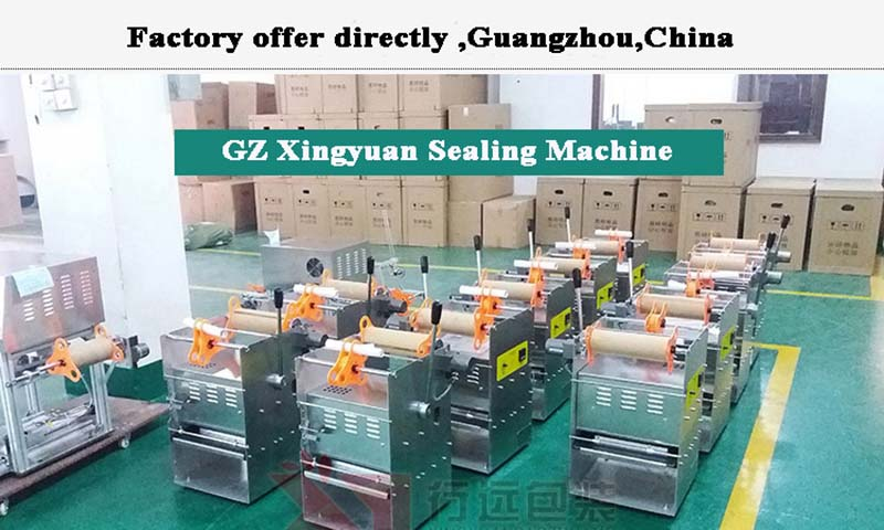 Manual type plastic food tray sealing machine