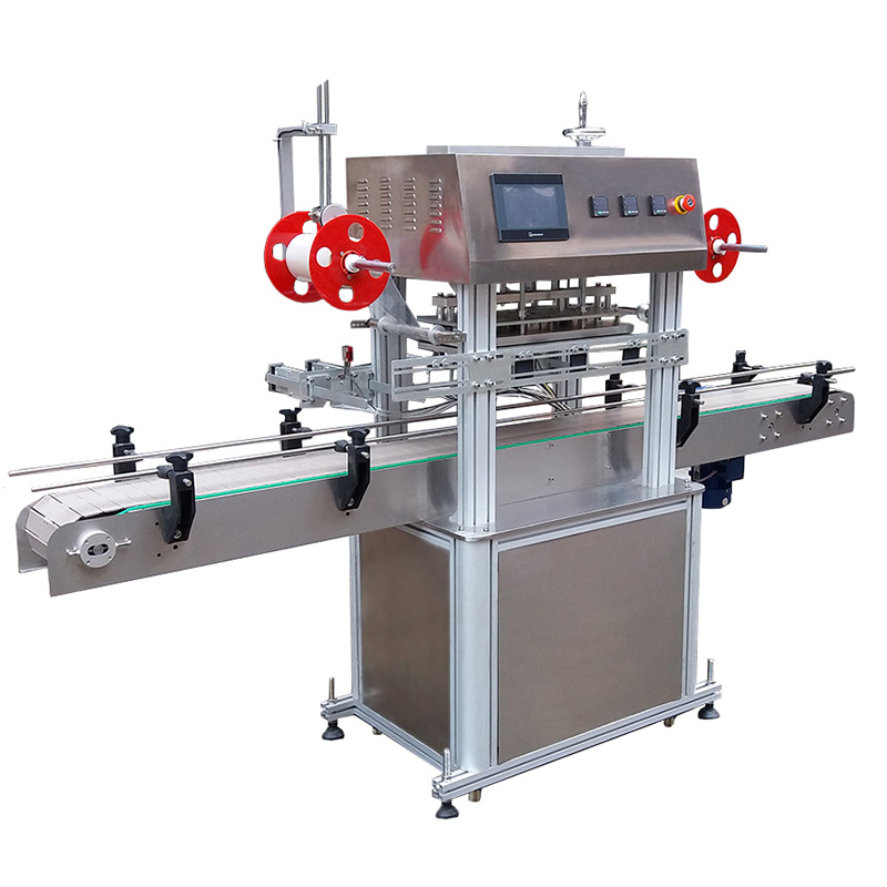 Automatic wet wipes barrel top foil sealing machine
