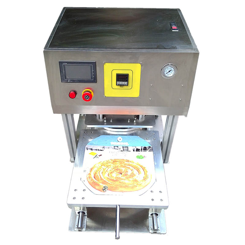 pizza tray sealing machine