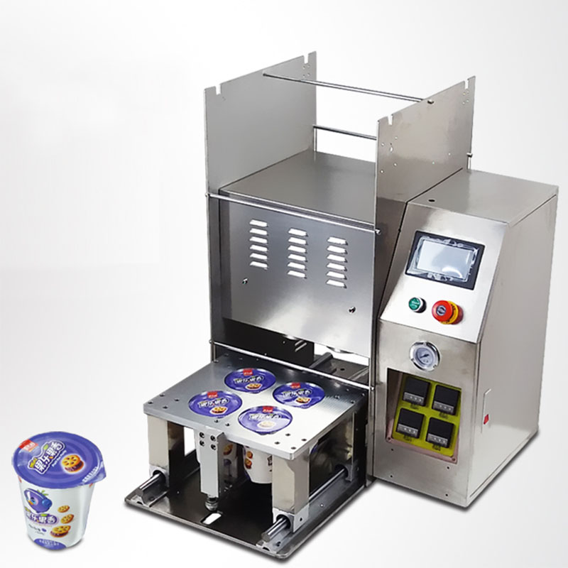 Automatic paper cup top heat sealing lid machine